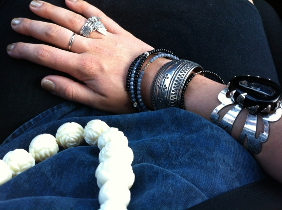 aotd silver cuff bracelets rose carved beaded necklace seasonal whispers